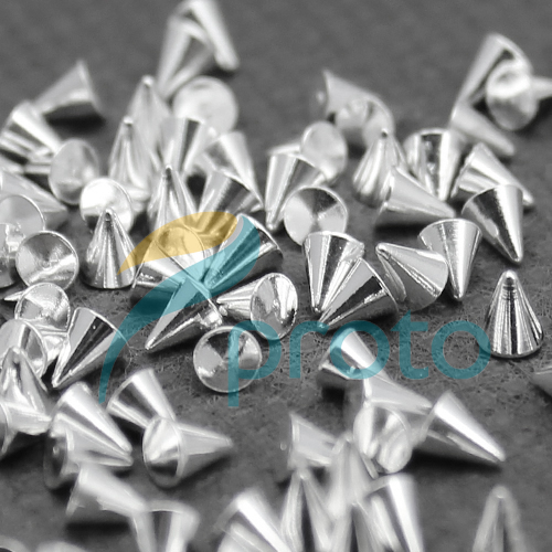 Freeshipping-100X 3.5x3mm Silver Metal Nail Art Punk Cone Spike Studs Rhinestones DIY 3D Decoration Dropship [Retail] SKU:D0348