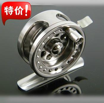 Free Shipping Alumimum CNC #4/50mm Flying Fishing Reels Ice Fishing Casting Wheel BLD50