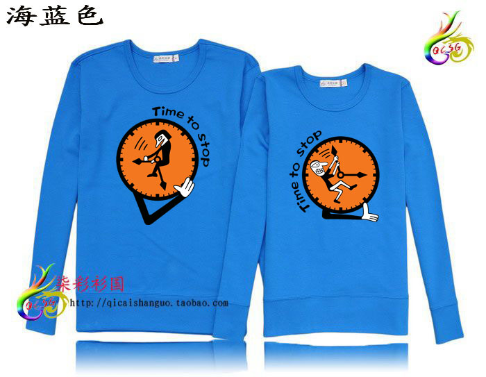 100% long-sleeve cotton sweatshirt lovers time shirt countries of ethnographical(China (Mainland))