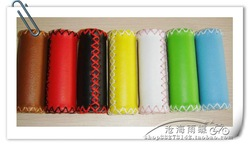 FREE SHIPPING Bicycle grips leather handle sets multicolour(China (Mainland))