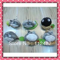 Free shipping TOTORO mix designs 100pcs/lot plush toy pendant