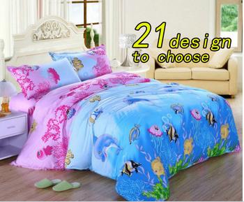 120376 fedex free shipping! pcs bedding set  cotten home textiles   printed bedding set