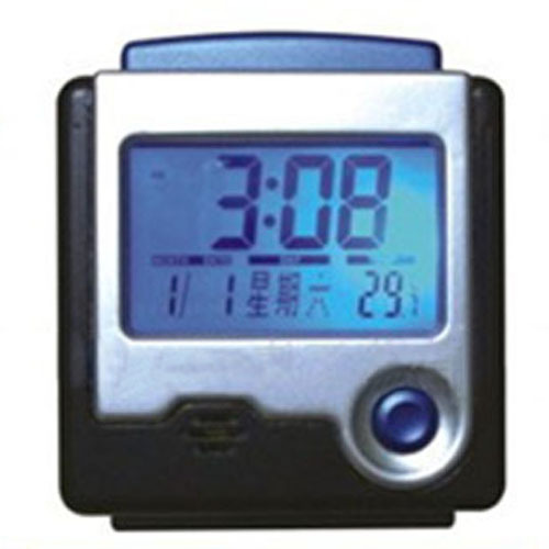 Free Shipping Electronic Calendar LCD Desk Travel Talking Alarm Clock(China (Mainland))