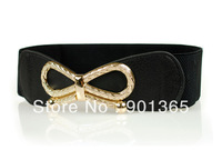 Women's  Dress Belt All-match Decoration Wide Elastic Bow Waist Belt