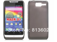 For Motorola RAZR D1 Skin,New High quality Glossy soft TPU Gel Case For Motorola RAZR D1 by DHL Free Shipping