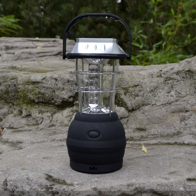 Horse outdoor solar camping light hand crank lantern camp light tent light 36led switch(China (Mainland))