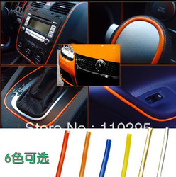 Korea car soft decoration line cars inside adornment changing color car stickers 12M/package 6 colors free shipping wholesale(China (Mainland))