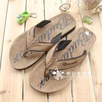 Double 2 2013 men's flip flops shoes pinch flat sandals fashion plus size