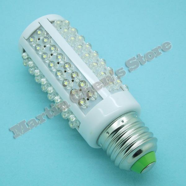 Free shipping led corn light LED bulb 7W E27 220V White light LED lamp with 108 led 360 degree Spot light(China (Mainland))
