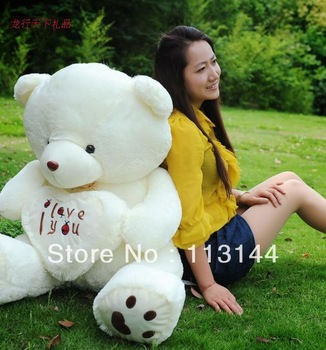 Free shipping 110cm soft stuffed lover's bears plush dolls ,discount giant stuffed teddy bear dolls,teddy gifts for Valentine
