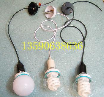 Diy pendant lamp energy saving lamp bulb lamp base dust proof lamp hanging wire adjustable long short simple pendant light