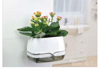 Innovative items Drawing room flowerpot plastic Suction Organizer Oblong Flower Pots  Home Decoration bonsai  -Free shipping