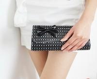 2013 women's handbag fashion plaid bow shoulder bag messenger bag day clutch dinner packet
