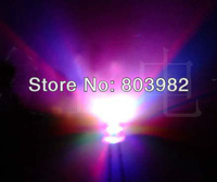 RGB seven-color changing 5MM led automatic slow flashing 3.0-3.5V wide angle DIP LED(CE&Rosh)
