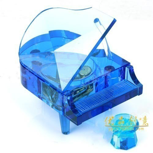 Free shipping Gift 18 full metal movement piano music box(China (Mainland))
