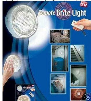 48pcs/lot,Wholesale LED Remote Brite Light Wardrobe Bedside Lamp Camping Garage LED Light As Seen On TV Free Shipping