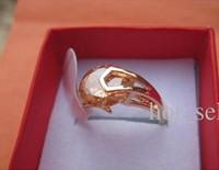 hot women 14k gold plated ring champange crystal rings love ring wedding ring free shipping