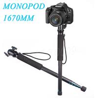 Newest 167cm Beike Aluminum Camera Stabilizer Tripod Monopod + Ball Swivel Head