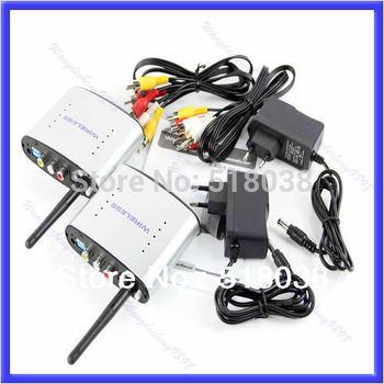 Free Shipping 2.4GHz Wireless AV Sender TV Audio Video Transmitter Receiver PAT-330 New