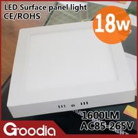 Free shipping High brightness 18w led light panel CE & ROHS AC85~265V Cool white/warm white 90pcs led 18w led panel lamp