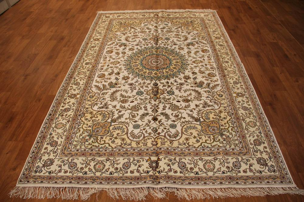 Free shipping classic silk material persian types white heriz rug 5x8(China (Mainland))