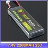 Lion power 7.4V 2200MAH 25C High Power lipo battery AKKU MAX 30C RC Model +free shipping