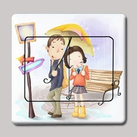 Umbrella multicolour switch stickers doodle wall stickers for kg 142