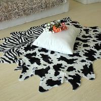 home carpet 75*120cm face japanese style brief fashion milk cow tiger zebra carpet