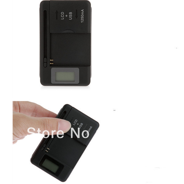 100pcs/lot FreeShipping YIBOYUAN Authentic New Universal Battery Charger With LCD For Samsung GALAXY S S2 S3 Note Note 2(China (Mainland))