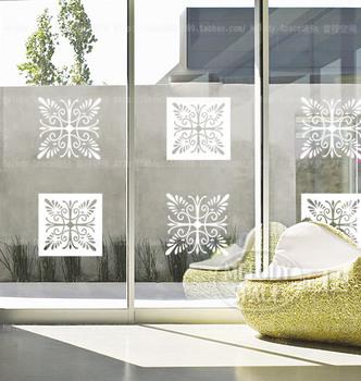 free shipping new design self adhesive vinyl window film classic decorative pattern wall decor / glass sticker