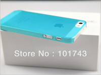 Wholesale 10pcs/lot 0.5mm Ultra Thin case for iPhone 5G, Slim Matte frosting Transparent Cover Case For iPhone 5 Free Shipping