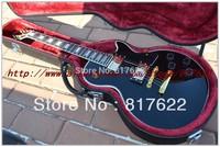 Wholesale custom shop 1958 black ebony fingerboard gold hardware electric guitar EMS free shipping with hardcase