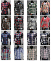 Hot Style  Men's cotton blending casual slim long sleeve shirt