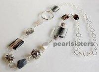 Colored glaze brief fashion design long necklace female long gualian big fashion necklace chain