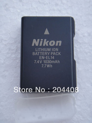 Free shipping+1 sample,New EN-EL14 ENEL14 Battery pack for Nikon Coolpix D5100 D3100 D3200 P7100 P7000(China (Mainland))