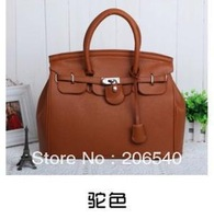 Elegant Vintage Women Lady Celebrity PU Leather Tote Handbag Shoulder Hand Bag with Lock