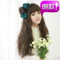 Free shipping  Hot-selling fashion fluffy curly hair long curly hair  female short wig