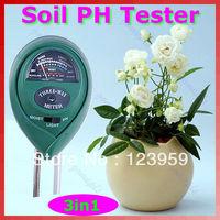 Free Shipping 3 in1 Plant Flowers Soil PH Tester Moisture Light Meter hydroponics Analyzer