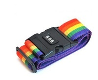 yp013 Free shopping 1pcs High Quality Combination Lock Buckle /Luggage Of Rainbow Reinforcement