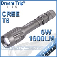 [Dream Trip] 10pcs/lot Trustfire Z6/Z5 5 Mode 1600 Lumens Zoomable flashlight CREE XM-L T6 LED led torch light