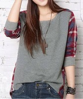 2014 new arrival s fashion female't-shirt high quality clothes cheap price  t-shirt plus size casual long-sleeve T-shirt
