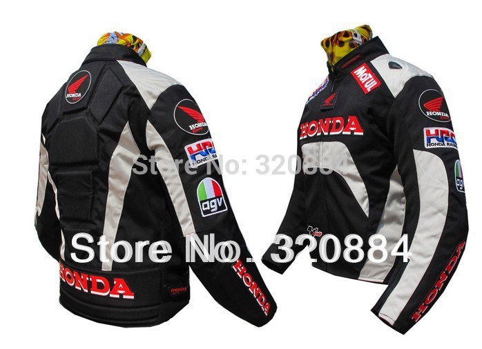 In stock Free shipping 1PC Racing Nylon waterproof Jacket with 5pcs portector.Motocross clothing,Motor jacket(China (Mainland))