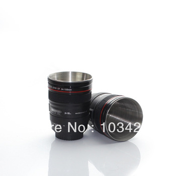 FreeShipping-Hot Camera EF 24-105mm Lens Mug Mini Coffee Lens Cup 2pcs/set Cute Drink Cup