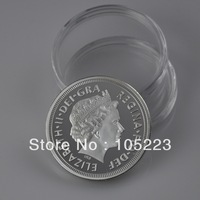 Factory Price! Fedex/DHL Free shipping wholesale 100pcs/lot,UK British Sovereign Silver coin .pure silver plated round coin