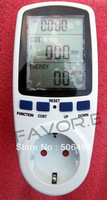 EU Plug Power Energy Watt Volt Amp Meter Analyzer with Power Factor High Quality