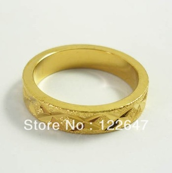 Wholesale 18k Yellow Gold Filled Men's Rings original Size10 ring GF Fashion Jewelry