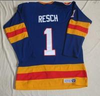 Free shipping ice hockey #1 RESCH 1 Blue color CCM Throwback cheap Jersey jerseys hot sale xuebeng