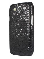 Luxury Bling Glitter Hard Back Case Cover for Samsung Galaxy S3 III S3 I9300 BLK Free Shipping & Wholesale