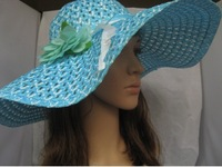 Womens Ladies Wide Large Brim Summer Beach Sun Hat Straw Derby Cap