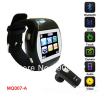 DHL  FREE  Q007 watch phone,watch mobile phone,white,black,pink,Quad-bands,1.5 inch touch,Bluetooth MP3 MP4 FM WAP,GPRS 10pcs/